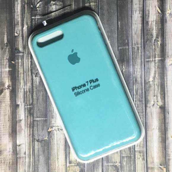 competitive price f226d 27a07 Apple Silicone Sea Blue Case for iPhone Plus 6/7/8